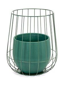 Serax - Pot in a Cage -ruukku 37 x 46 cm - VIHREÄ | Stockmann