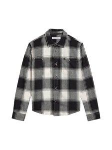 Calvin Klein Kids - Winter Check Shirt-paita - 0ME CHECK CK BLACK BRIGHT WHITE | Stockmann