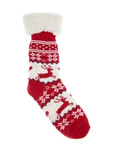 Cuddly Socks - Lapland-sukat - 6683 ROSSO/OFFWHITE | Stockmann