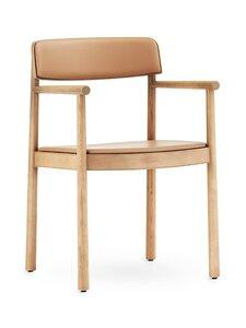 Normann Copenhagen - Timb Armchair -tuoli, nahkaverhoilu - TAN/ ULTRA LEATHER - CAMEL   Stockmann