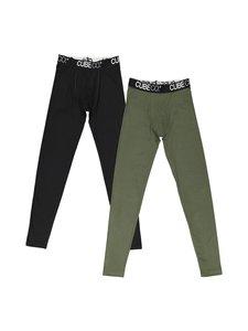 Cube Co - Daneli- pitkät alushousut 2-pack - BLACK/KHAKI | Stockmann