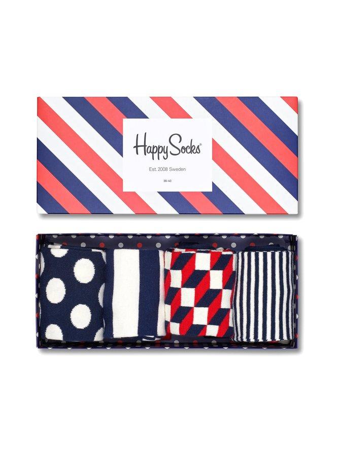 Stripe Gift Box -sukat 4-pack