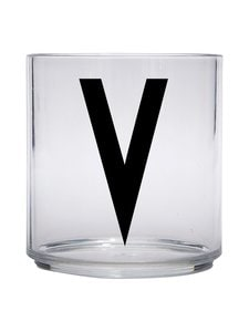 Design Letters - Kids Personal Drinking Glass -juomalasi, V - KIRKAS | Stockmann