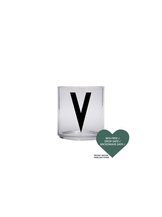 Design Letters - Kids Personal Drinking Glass -juomalasi, V - KIRKAS   Stockmann - photo 2