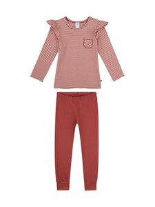 Sanetta - Kids Girl Stripe Back To Nature -pyjama - 38146 REDWOOD   Stockmann
