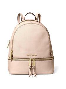 Michael Michael Kors - Rhea Medium Leather Backpack -nahkareppu - 187 SOFT PINK | Stockmann