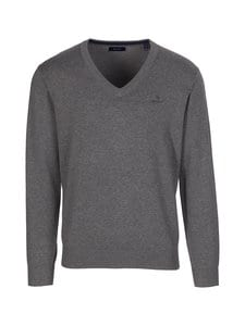 GANT - Puuvillaneule - 92 DARK GREY MELANGE | Stockmann