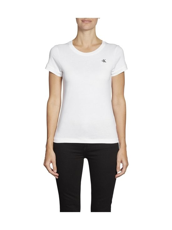 Calvin Klein Jeans - Embroidery Slim Tee -paita - YAF BRIGHT WHITE | Stockmann - photo 3