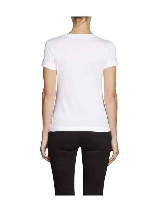 Calvin Klein Jeans - Embroidery Slim Tee -paita - YAF BRIGHT WHITE | Stockmann - photo 4