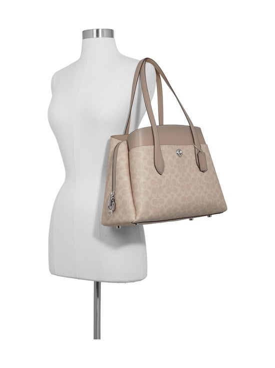Coach - Lora Carryall In Signature Canvas -laukku - LH/SAND TAUPE | Stockmann - photo 8