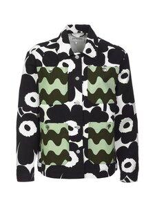 Marimekko - CO-CREATED Kauris coat -denimtakki - 196 WHITE, BLACK, GREEN | Stockmann