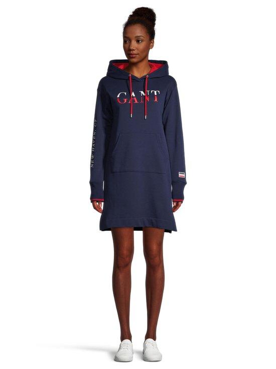 GANT - Graphic Sweat Hoodie Dress -mekko - 409 CLASSIC BLUE | Stockmann - photo 2