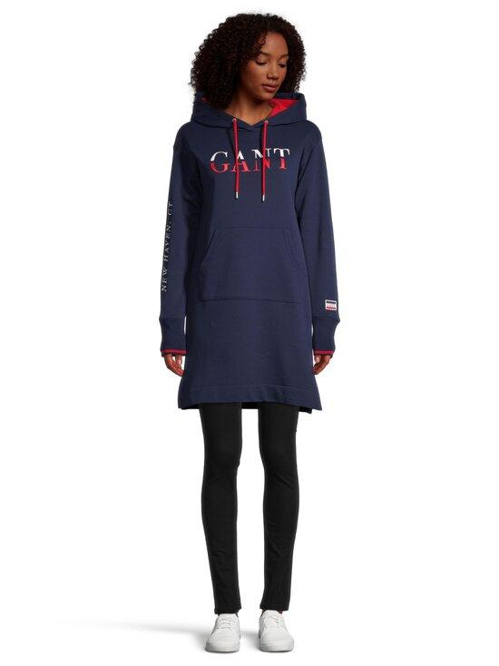 GANT - Graphic Sweat Hoodie Dress -mekko - 409 CLASSIC BLUE | Stockmann - photo 4