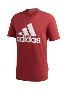 adidas Performance - Must Haves Badge of Sport Tee -paita - LEGACY RED   Stockmann