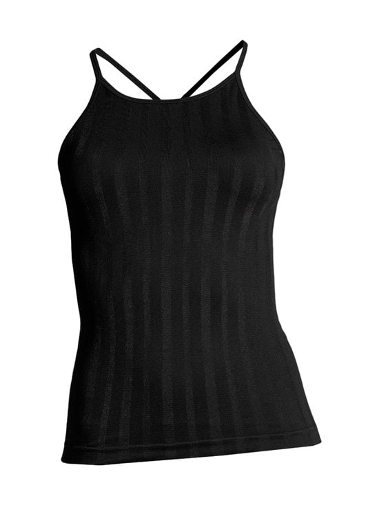 Casall - Shiny Matte Seamless Strap Tank -treenitoppi - 901 BLACK | Stockmann - photo 1