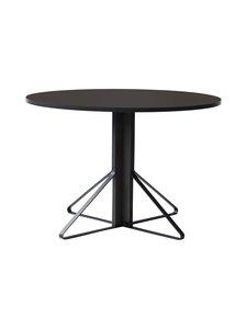 Artek - REB004 Kaari -pöytä, linoleum - BLACK LINOLEUM/BLACK OAK (MUSTA) | Stockmann