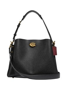 Coach - Willow Shoulder Bag -nahkalaukku - B4/BLACK | Stockmann