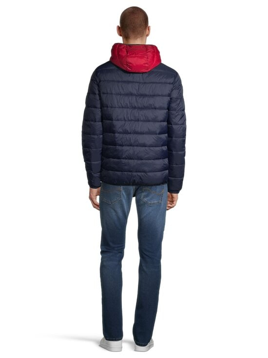 Jack & Jones - JjeMagic Puffer Hood -toppatakki - TANGO RED DETAIL:BLOCKING | Stockmann - photo 3