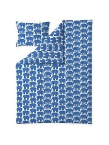Finlayson - Elefantti-pussilakanasetti 150 x 210 + 50 x 60 cm - BLUE | Stockmann