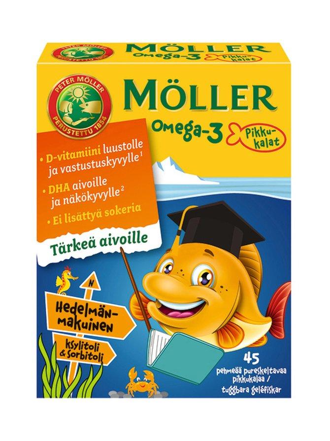 Möller Omega-3 Pikkukalat 45 kpl