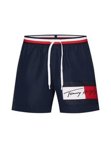 Tommy Hilfiger - Signature Waistband Drawstring -uimashortsit - CUN PITCH BLUE 654-870 | Stockmann