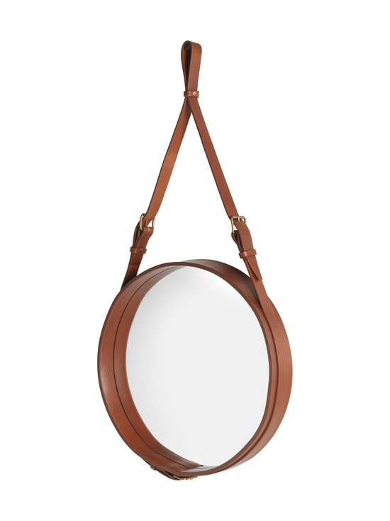 Gubi - Adnet Wall Mirror Circular -peili ⌀ 45 cm - TAN LEATHER | Stockmann - photo 2