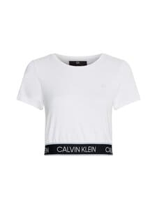 Calvin Klein Performance - Mesh Back Cropp -paita - WHITE | Stockmann