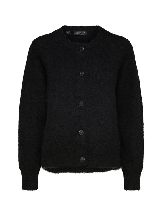 Selected - SlfLulu LS Knit Short Cardigan -neuletakki - C-N10 BLACK | Stockmann - photo 1