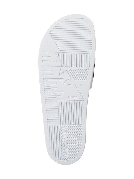 Emporio Armani - Monogram Sliders -sandaalit - L007 WHITE+BLACK+WHITE | Stockmann - photo 3