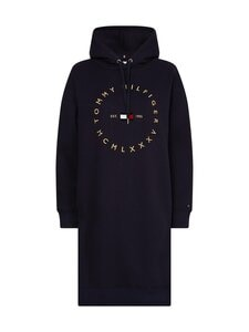 Tommy Hilfiger - CIRCLE HOODIE SHORT DRESS -collegemekko - DW5 DESERT SKY | Stockmann