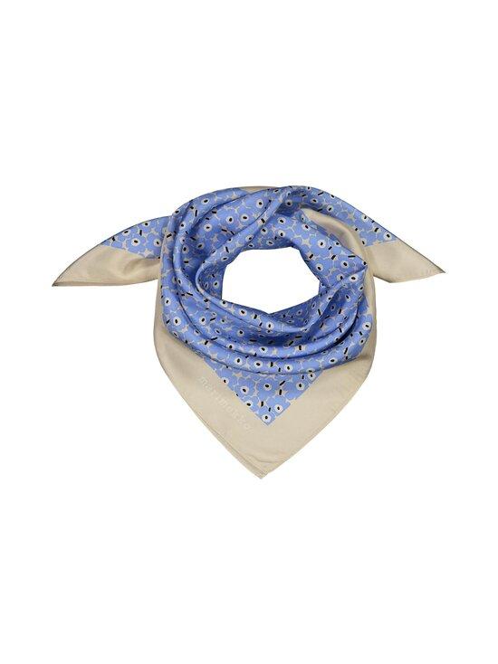 Marimekko - Tyrsky Pikkuinen Unikko -silkkihuivi - 581 LIGHT BLUE, BEIGE, WHITE | Stockmann - photo 1