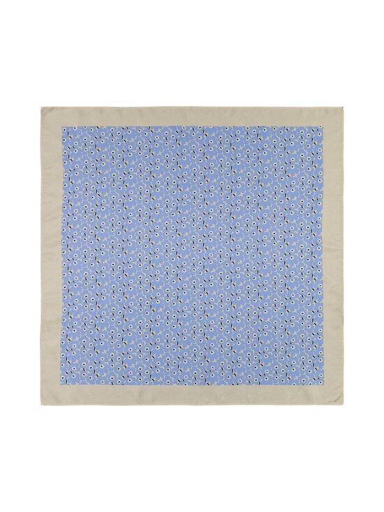Marimekko - Tyrsky Pikkuinen Unikko -silkkihuivi - 581 LIGHT BLUE, BEIGE, WHITE | Stockmann - photo 2