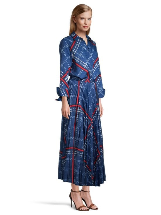 GANT - Signature Weave Pleated Skirt -hame - 435 CRISP BLUE | Stockmann - photo 3