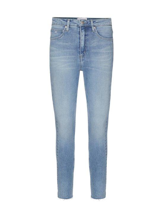 Calvin Klein Jeans - High Rise Super Skinny Ankle -farkut - 1AA DA069 LIGHT BLUE DSTR CUT HEM | Stockmann - photo 1