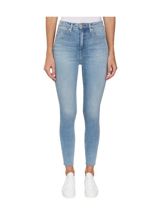 Calvin Klein Jeans - High Rise Super Skinny Ankle -farkut - 1AA DA069 LIGHT BLUE DSTR CUT HEM | Stockmann - photo 2