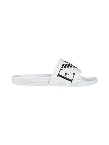 Emporio Armani - Monogram Sliders -sandaalit - L007 WHITE+BLACK+WHITE   Stockmann