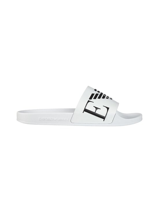 Emporio Armani - Monogram Sliders -sandaalit - L007 WHITE+BLACK+WHITE | Stockmann - photo 1