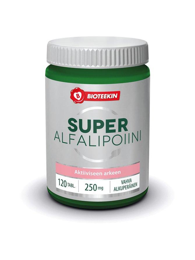 Super Alfalipoiini Vahva 250 mg -ravintolisä 120 kaps.