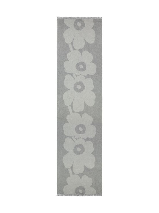 Marimekko - Sue Jacquard Juhla-Unikko -villahuivi - 099 GREY, LIGHT GREY | Stockmann - photo 1
