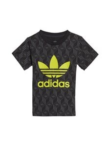 adidas Originals - Tref Tee -paita - BLACK/GREY FIVE/SEMI SOLAR YELLOW | Stockmann