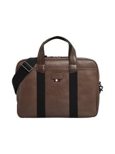 Tommy Hilfiger - Casual leather Computer Bag -nahkalaukku - 0HD CIGAR | Stockmann