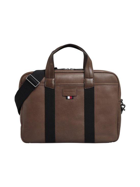 Tommy Hilfiger - Casual leather Computer Bag -nahkalaukku - 0HD CIGAR | Stockmann - photo 1