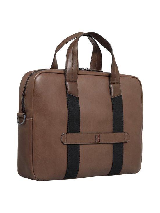 Tommy Hilfiger - Casual leather Computer Bag -nahkalaukku - 0HD CIGAR | Stockmann - photo 2
