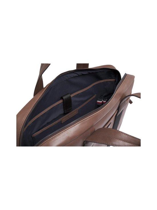 Tommy Hilfiger - Casual leather Computer Bag -nahkalaukku - 0HD CIGAR | Stockmann - photo 4