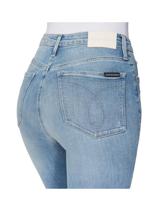 Calvin Klein Jeans - High Rise Super Skinny Ankle -farkut - 1AA DA069 LIGHT BLUE DSTR CUT HEM | Stockmann - photo 4