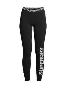 Superdry - Logo Elastic Leggings -leggingsit - 02A BLACK | Stockmann