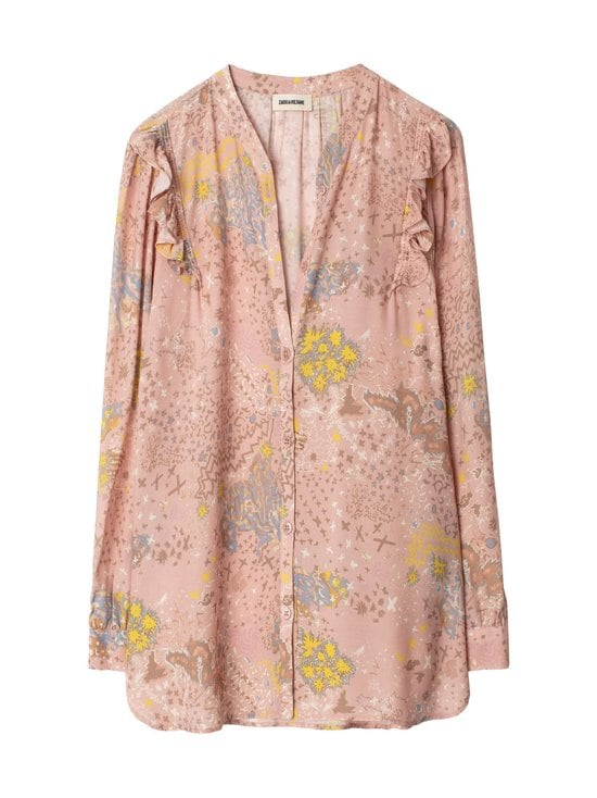 Zadig&Voltaire - Tygg Print Glam Blouse -pusero - CREPUSCULE CREP | Stockmann - photo 1