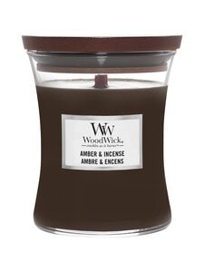 Woodwick - Amber & Incense Medium -tuoksukynttilä - DARK GREY | Stockmann