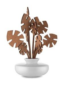 Alessi - The Five Seasons Leaf Fragrance Diffuser Hmm -huonetuoksu - VALKOINEN/MAHONKI | Stockmann