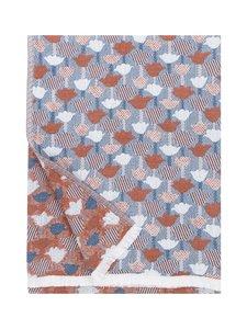 Lapuan Kankurit - Tulppaani-peitto/pöytäliina 130 x 240 cm - KANELI/SININEN | Stockmann
